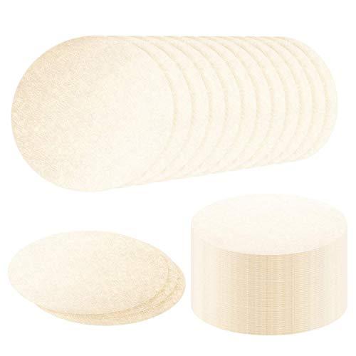 Ersatz-Papierfilter, Papier-Kaffeefilter, rund, kompatibel mit Ae.robie Ae.ropress und Kaffee für Zuhause und Büro DIY Kaffee (ungebleicht, 500 Stück)
