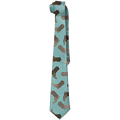 Uomo 'S Classico Casual USA Scarpe da cowboy Cravatta di seta sottile Cravatta Regalo di moda Matrimoni Gentleman Sposo Affari