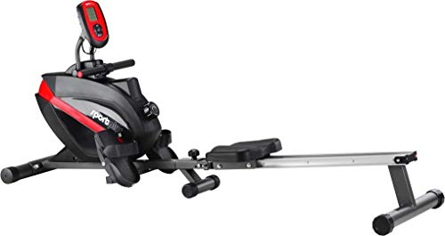 SportPlus Indoor Rower, Foldable Rowing Machine, Quiet Magnetic Brake System, Ball Bearing...
