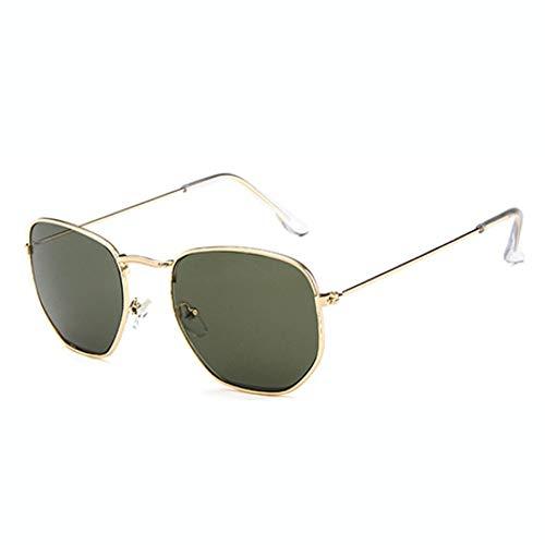 WDDYYBF Zonnebril Mode Zonnebril Mannen Ontwerper Klein Frame Polygon Zonnebril Vrouwen Vintage Zonnebril Zeshoek Metalen Frame 2018