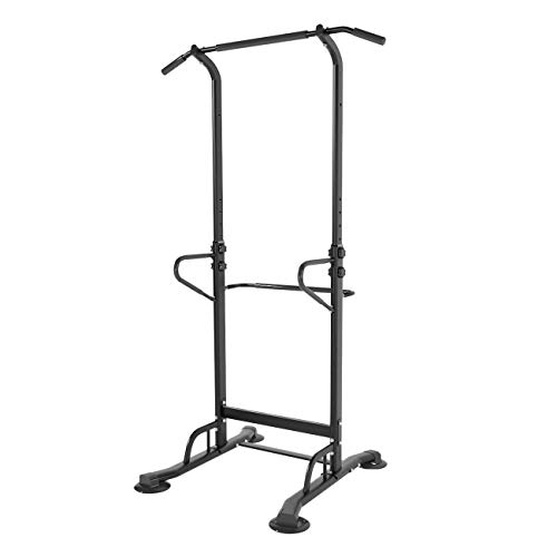 DlandHome Multi-Function Power Tower Adjustable Height Pull Up and Dip Station Strength Training Fitness Workout Station, PSBB002-DUS
