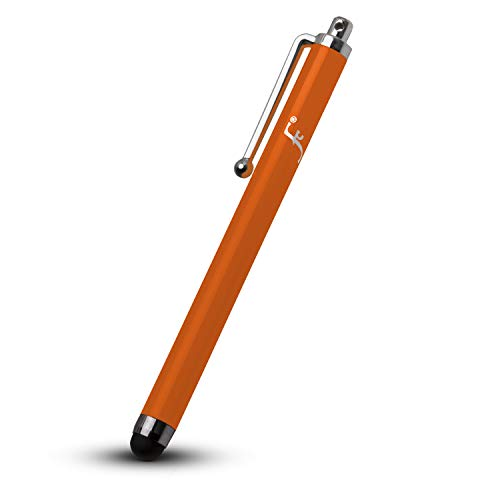 FOREFRONT CASES Universal Eingabestift Stylus für Kindle Oasis 2019 | Gummi Gespitztes Metallischer iOS Stift | Kratz- & Fettpräventionskit | Touch Pen Styli - Orange