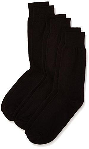 Van Heusen Men's Socks (Pack of 3) (VXT11141_Black)