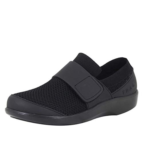 Alegria TRAQ Qwik Womens Smart Walking Shoe Black Out 10 M US