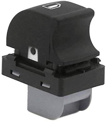 Interruptor eléctrico de 1 botón de control de ventana de puerta 4F0959855A /ajuste para Audi A6 C6 (negro)