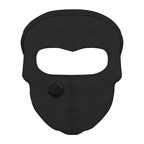Amagogo Máscara facial fresca Unisex Protección UV Protección facial Cómoda Pasamontañas Cubierta Suave Antipolvo para Ciclismo Motocicleta Senderismo Pesca - Negro con filtro