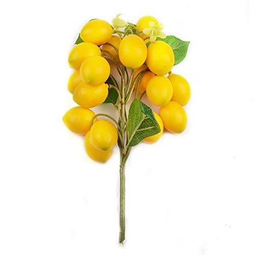Yangjing Artificial limón en maceta árbol Bonsai Accesorios Plantas Vegetales Juguetes de Cocina Para Boda Decoración de Fiesta de Frutas falsas
