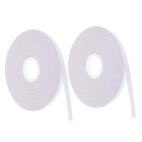 Baoblaze 2 Rollen Doppelseitiges Textilklebeband Klebeband Doppelklebeband Fixierband zum Einnähen, Applikationen, Säumen, Reißverschlüsse