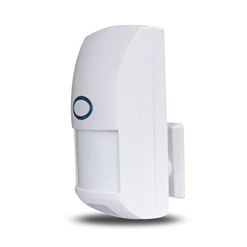 Heaviesk Mini Portátil Inalámbrico 433 MHz Seguridad para el Hogar Mascota Sensor Inmune de Movimiento PIR Detector Infrarrojo Dual para Sistema de Alarma