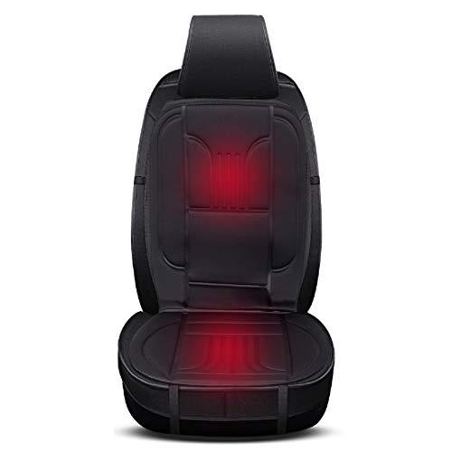 EUGAD 0001JRD Sitzheizung Auto 12 V Heizung für Sitz & Rücken Vordersitz Überhitzungsschutz Schwarz 49 x 97,5 cm