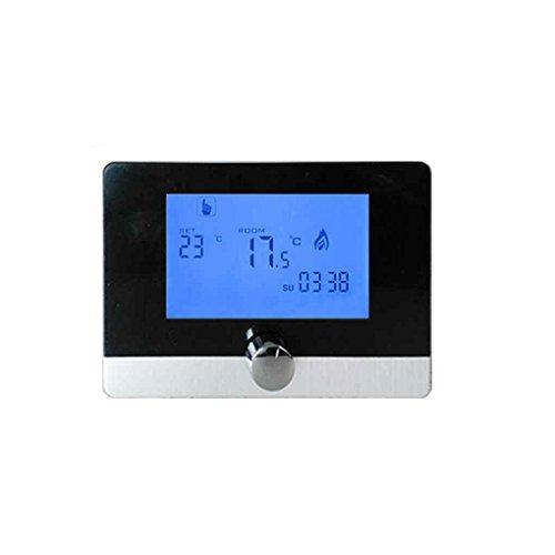 Termostato de Sitio Digital programable Interruptor Boiler Heating Thermostat,Boiler de Calor de Techo de Pared de la Caldera de Gas de Pared 5A Termostato LCD