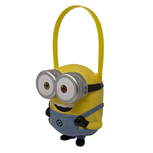Despicable Me Minion-Character Bucket-Children's Halloween Trick or Treat Candy and Storage Pail, Multicolor, DS00367