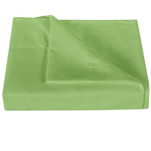 NTBAY Mikrofaser-Bettlaken, extra lang, besonders weich und knitterfrei, verblasst nicht, schmutzabweisend, Salbeigrün
