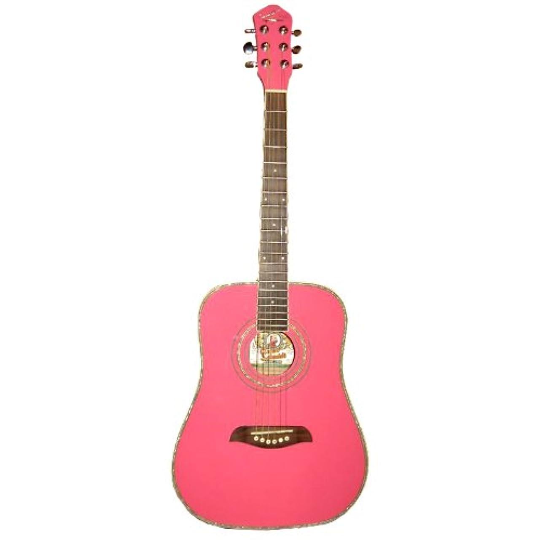 頑固な適応する背の高いOscar Schmidt オスカーシュミット OG1P アコースティックギター - Pink アコースティックギター アコギ ギター (並行輸入)