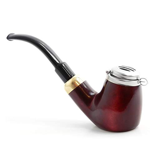 Mr. Brog Full Bent Smoking Tobacco Pipe - Model No: 21 Old Army Mahogany - Pear Wood Roots - Hand Made