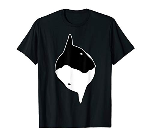 Cool Yin Yang Dog T-Shirt - Cute Bull Terrier Tee
