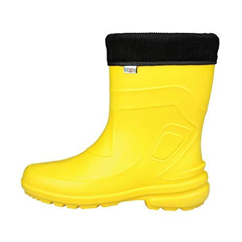 KAGU Regenstiefel Lara ladeheid Damen Gummistiefel, Yellow, 39 EU