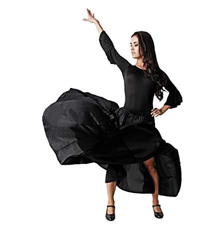 Costumizate! Falda de quilla Negra Falda de ensayo sin Volante para Mujer Adulta Talla s