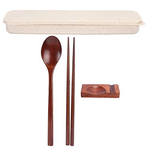 Xndz Juego de vajilla, Palillos de Juego de Cubiertos Reutilizables para el hogar para Acampar para la Oficina para la Comida campestre