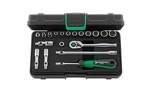 Stahlwille 96015208 Quick-Release-Sortiment 19-teilig im robusten, stapelbaren ABS-Kunststoffkasten