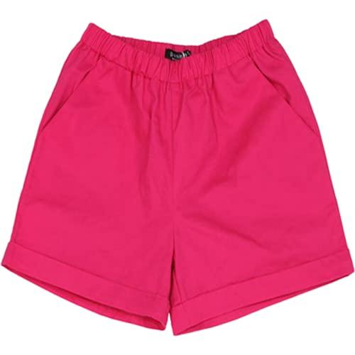 Pantalones Cortos para Mujer Verano Ocio Todo-fósforo Gran tamaño Pantalones Cortos Sueltos Simples de Color sólido Pantalones Cortos cómodos de Cintura elástica con cordón para el hogar 4XL