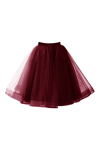 Babyonline® Damen Tüllrock 50er Rockabilly Petticoat Tutu Unterrock Kurz Ballett Tanzkleid Ballkleid Abendkleid Gelegenheit Zubehör