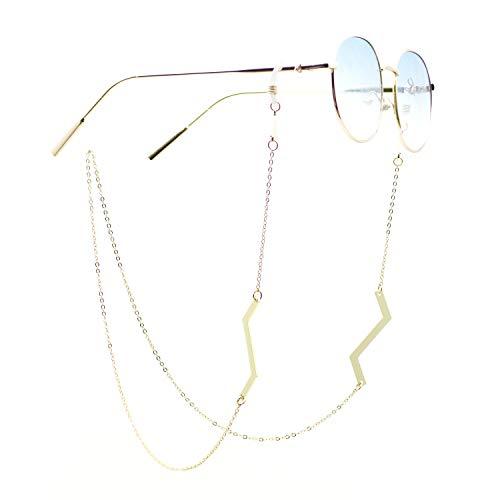 Savin Cadena para anteojos Soporte para Correa para Gafas de Sol Soporte para anteojos para Lectura Cordones Cordones para Mujer Color Dorado