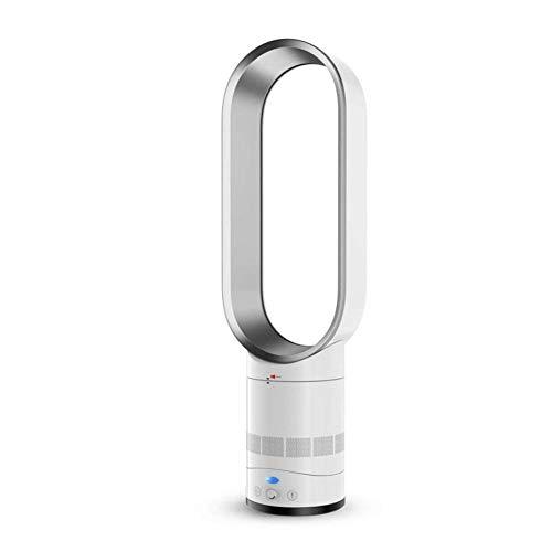Ultra-still Blattloser Ventilator, Oszillierender Boden-ständigen Luftkühler Mit Fernsteuerung, Mute Negative Ionen Luftreiniger Turmventilator-Silber 66x20cm(26x8inch)
