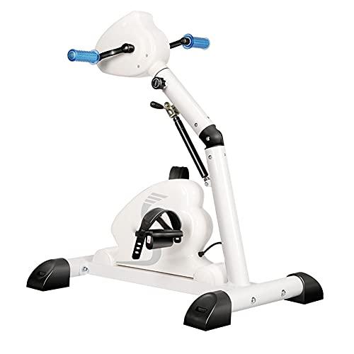 XJZHANG Cyclette Pieghevole con Display LCD Pedaliera elettrica per Esercizi a casa Macchina per Riabilitazione Arti Superiori e Inferiori Bicicletta per Anziani/disabili