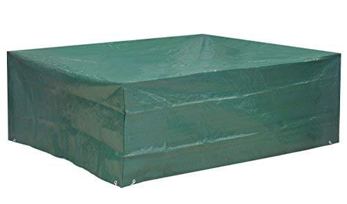 Kronenburg Schutzhülle Sitzgruppe Abdeckhaube, Grün, 70 x 200 x 160 cm - Abdeckung für Gartenmöbel - weitere Schutzhüllen wählbar
