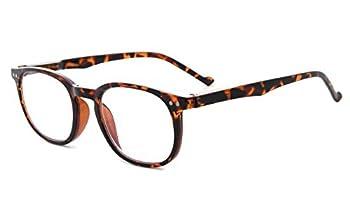 Eyekepper Retro Reading Glasses for Women Reading +0.75 Tortoise Frame Mens Readers Eyeglasses