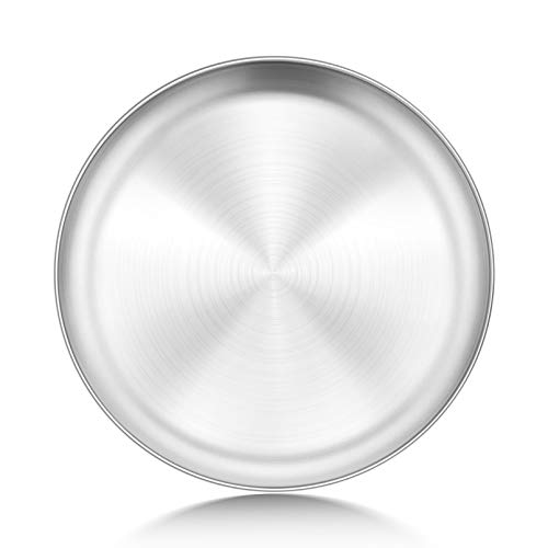 P&P CHEF 10-Inch Pizza Pan, Stainless Steel Pizza Crisper Tray, Round Oven Baking Pan for Pizza Pie Flat Bread, Healthy & Durable, Oven & Dishwasher Safe