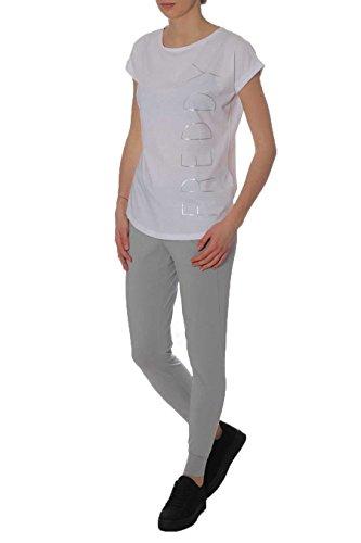 FREDDY - Pantalon de Sport - Femme Blanc G51W Grigio Bianco L