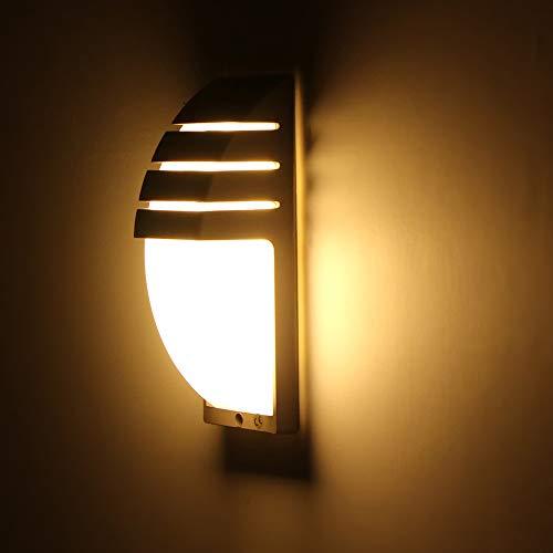 Wovatech Aplique de pared LED moderno - Luz de pared de 8W Impermeable al aire libre Interior - Luz de noche para el pasillo del hogar Balcón Luz de noche Lámpara de pared