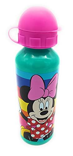 botella agua Disney niñas niños botella agua minnie mouse botella cantimplora termica aluminio 520ml.