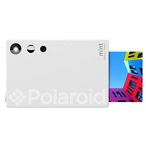 Polaroid Mint Cámara Digital de impresión instantánea con tecnología ZINK sin Tinta (Blanco) Impresiones en Papel fotográfico Zink 2x3 con Base Adhesiva