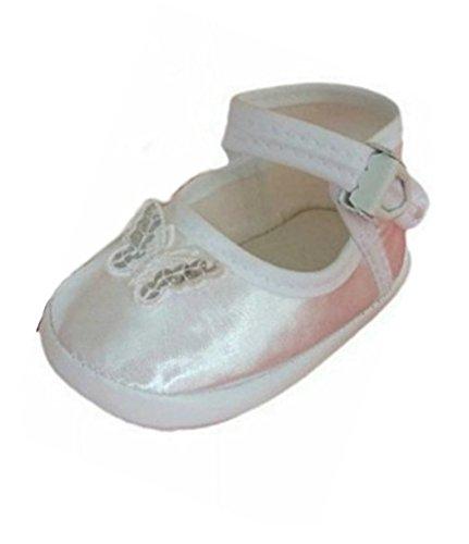 Seruna Festliche-r Baby-Schuh TP24 Gr. 17 Tauf-Schuhe rosa für Babies und kleine Mädchen zu Hochzeit-en