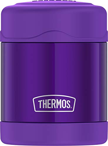 THERMOS FUNTAINER 10 Ounce Stainless Steel Vacuum Insulated Kids Food Jar, Violet
