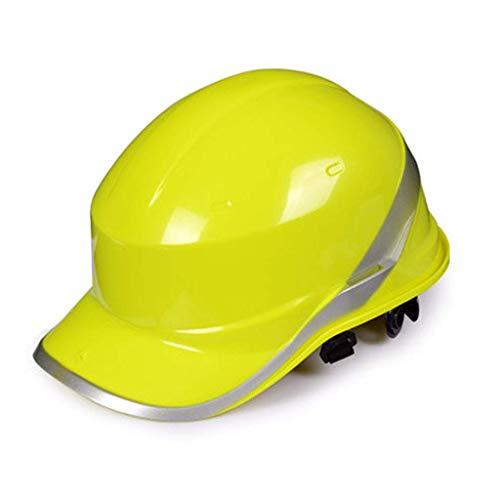 Sooiy Sitio-Casco Casquillo del Estilo del Casco, Casco de Seguridad, Protección sostenible Ratchet Suspensión 6 Puntos Cascos de Seguridad,Amarillo