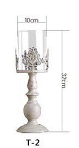 3 maat elegante kandelaar kubusstandaardkandelaar metalen basis Craft Votice grote glazen bruiloft kandelaars, wit midden