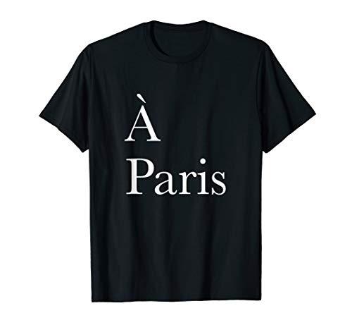 In Paris A Paris France Black Graphic T-Shirt