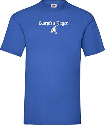 Shirtinstyle Tee-Shirt Carpe Chasseur Poissons Pêche Hobby Carpistes Kultstyle - Royal, XXL