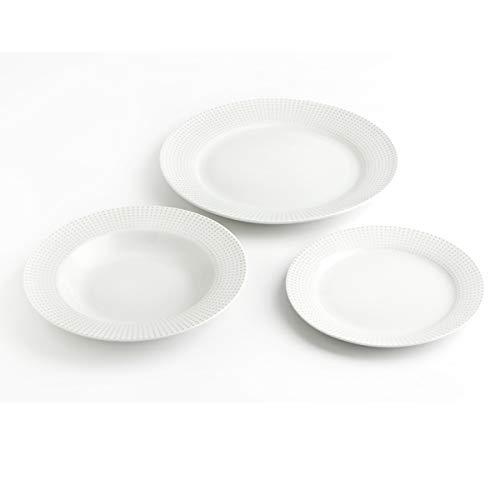 Bidasoa -Vajilla porcelana vértices 18 piezas 6 servicios