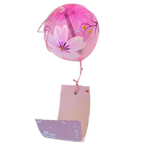Campana de viento de bola de vidrio japonesa para decoración de jardín para interiores y ventanas
