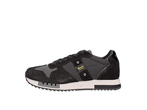 Scarpe Blauer Sneaker Running Mod. Queens in Suede/Tessuto BLU Nero U21BU03