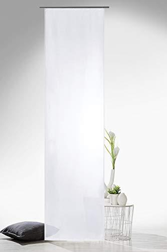 heimtexland Gardinen Schiebegardine Flächenvorhang Flächengardine Schiebevorhang, Farbe Weiß, Höhe 245cm x Breite 60cm Typ118
