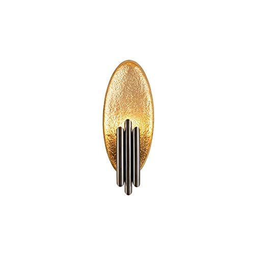 TRRYHZAG Harz-Wand-Licht Kreative Double Head LED Dekoration Sconce Edelstahlrohr Wandleuchten Innenbereich Wohnzimmer Schlafzimmer Nacht Wände Beleuchtung (Color : Gold)