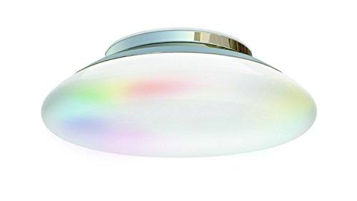 iDual JE501009 A, LED-Deckenleuchte Volta mit Fernbedienung, Plastik, Chrome, 32 x 32 x 100 cm