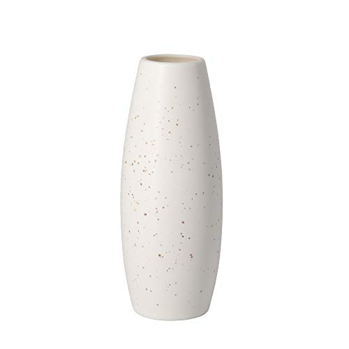 Small Ceramic Flower Vase Container Minimalist Modern Home Décor Style Decoration Matte Design Ideal Gift for Friend Family Artificial Flower Small Vase White (White)