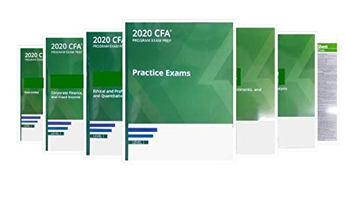 2020 CFA Level 1 Kaplan Schweser Notes: Books 1-5, Practice Exam Vol 1-2, QuickSheet